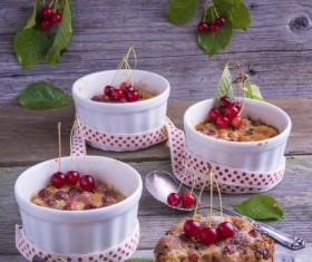 French dessert cherry clafoutis Stock Photo 04