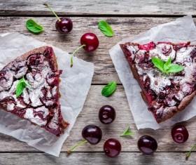 French dessert cherry clafoutis Stock Photo 05