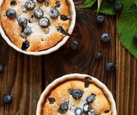 French dessert cherry clafoutis Stock Photo 06