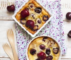 French dessert cherry clafoutis Stock Photo 07