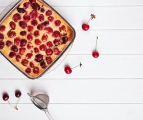 French dessert cherry clafoutis Stock Photo 08