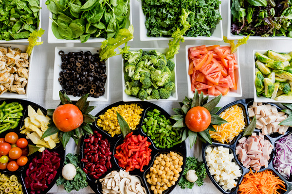 Fresh vegetables and food Stock Photo