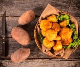 Fried potato balls Stock Photo 01