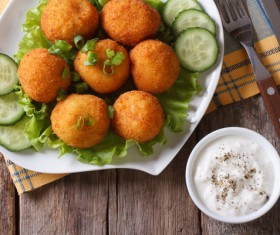 Fried potato balls Stock Photo 03