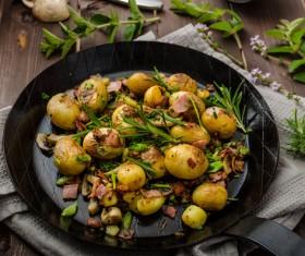 Fried potato balls Stock Photo 04