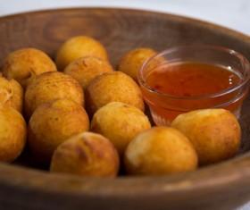 Fried potato balls Stock Photo 05
