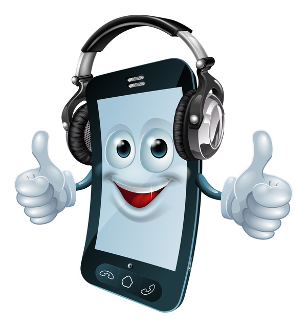 Funny Cartoon Mobile Phone Vector 04 Free Download