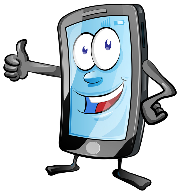 Funny Cartoon Mobile Phone Vector 08 Free Download