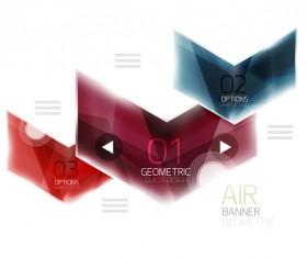 Geometric glass options infographic vectors 07