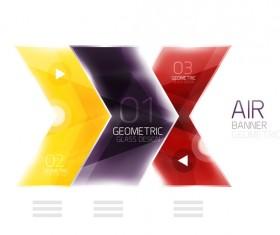 Geometric glass options infographic vectors 08