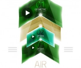 Geometric glass options infographic vectors 13