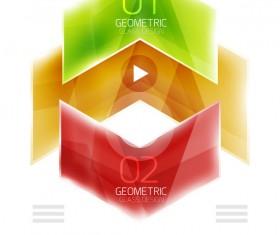 Geometric glass options infographic vectors 15