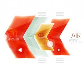 Geometric glass options infographic vectors 17