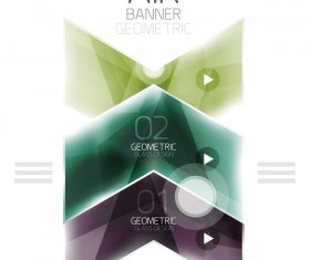 Geometric glass options infographic vectors 19