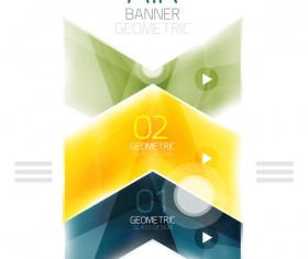 Geometric glass options infographic vectors 25