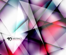 Geometry polygonal transparent background vectors