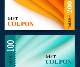 Gift coupon template vector 01