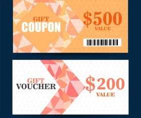 Gift coupon template vector 02