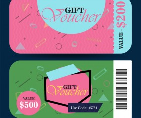Gift voucher template vector 01