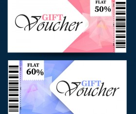 Gift voucher template vector 02