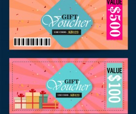 Gift voucher template vector 03