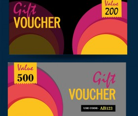 Gift voucher template vector 04