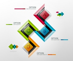 Glass option infographic vector template 02