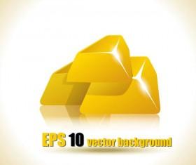 Gold bar vector background
