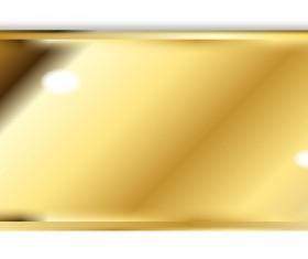Golden brick precious metal vector material 01