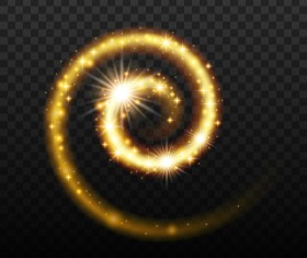 Golden glow whirl effect vector illustration 02