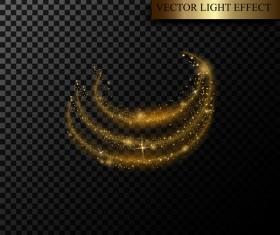 Golden light effect illustration vectors 01