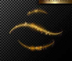 Golden light effect illustration vectors 02