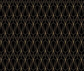 Golden lines seamless pattern vector 02