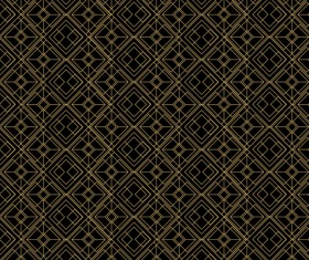 Golden lines seamless pattern vector 03