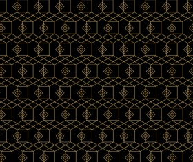 Golden lines seamless pattern vector 04