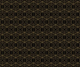 Golden lines seamless pattern vector 05