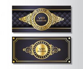 Golden luxury VIP card template vector 01