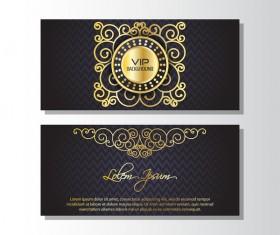 Golden luxury VIP card template vector 03