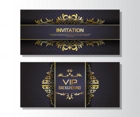 Golden luxury VIP card template vector 05
