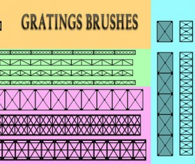 Gratings Photoshop Brushes
