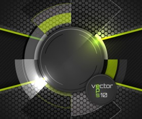 Green with black tech background vectors