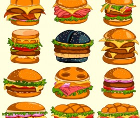 Hamburger vector icons