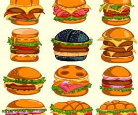 Hamburger vector icons
