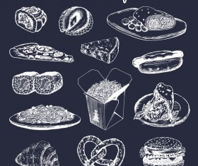 Hand drawn international food vector