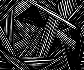 Hand drawn lines pattern seamless black with white vectors 06