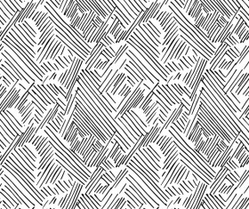 Hand drawn lines pattern seamless black with white vectors 08