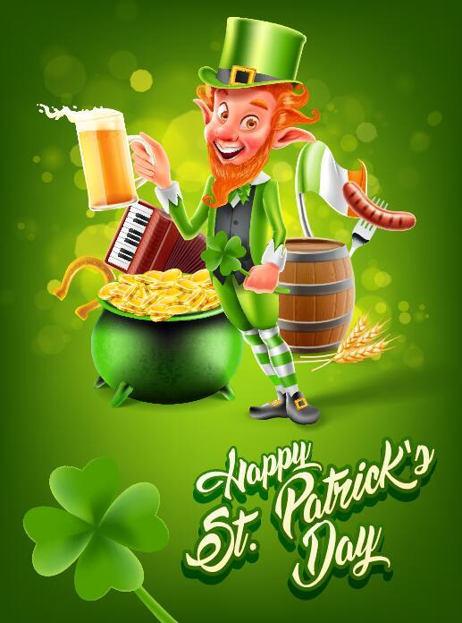 Happy St Patrick Day vector design material 01