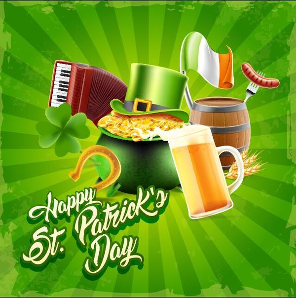 Happy St Patrick Day vector design material 02