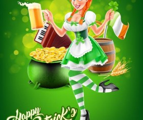 Happy St Patrick Day vector design material 03