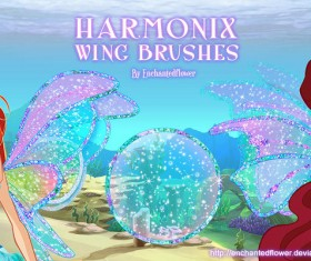 Harmonix Wing Photoshop Brushes